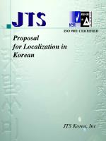 Proposal for Localization in Korean