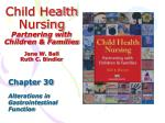 Child Health Nursing Partnering with Children & Families