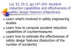 Lec 33, Ch.5, pp.147-164: Accident reduction capabilities and effectiveness of safety design features (Objectives)