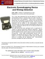 Electronic Eavesdropping Device and Wiretap Detection