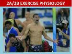 2A/2B EXERCISE PHYSIOLOGY