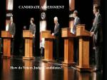 How do Voters Judge Candidates?