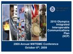 2010 Olympics Integrated Interoperable Communications Plan (IICP)
