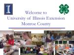 Welcome to University of Illinois Extension Monroe County