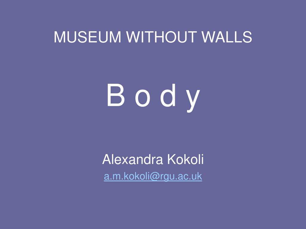 museum without walls b o d y l.