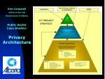 Alec Campbell Office of the CIO Government of Alberta Public Sector  Case Studies: Privacy Architecture