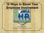 10 Ways to Boost Your Employee Involvement