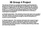 IB Group 4 Project