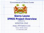 Sierra Leone IFMIS Project Overview