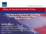 You Heard it Here First - Upcoming Changes in Relocation Policy (Federal Civilian)