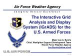 The Interactive Grid Analysis and Display System (IGrADS) for the U.S. Armed Forces