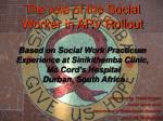 Presented by Tracie Rogers Social Work Unit Department of Behavioural Sciences UWI, St. Augustine