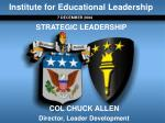 Institute for Educational Leadership
