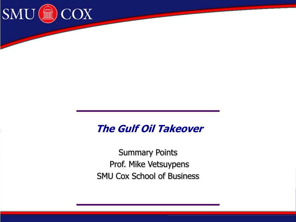 the gulf oil takeover l.