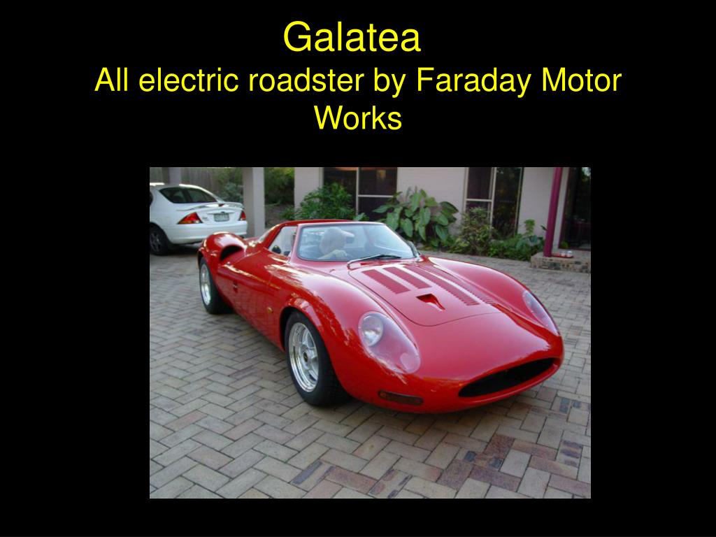 all electric roadster by faraday motor works l.