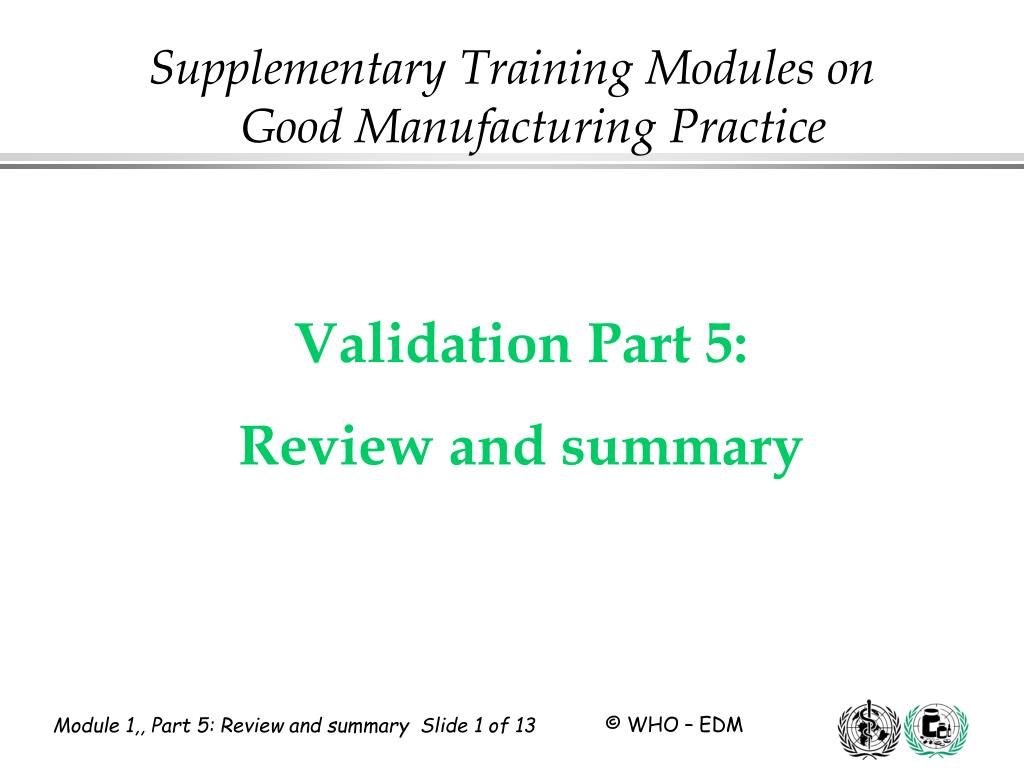 validation part 5 review and summary l.