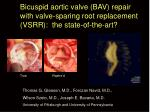 Bicuspid aortic valve (BAV) repair with valve-sparing root replacement (VSRR): the state-of-the-art?