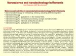 Main research activities in nanomaterials/nanotechnology field in Romania: Micro-nanotechnology for interacting, sensin