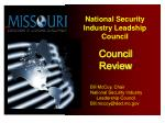 Homeland Security Overview for