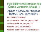 ADEM YILMAZ 087126002 İSMAİL BAL 087126016