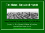 The Migrant Education Program