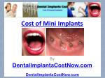 Cost Of Mini Implants