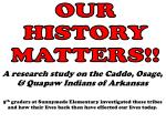 OUR HISTORY MATTERS!!