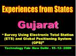 """Gujarat """"  Survey Using Electronic Total Station (ETS) and Global Positioning System (GPS)"""" Technology Fair- New Delhi ."""