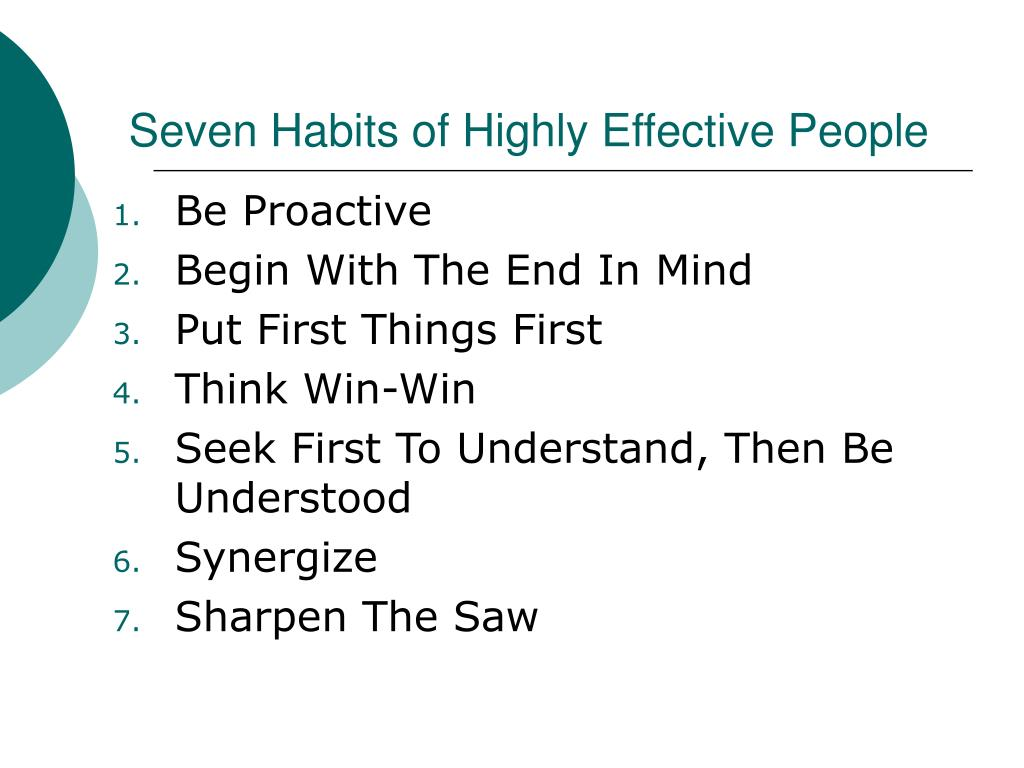 seven habits of highly effective people l.