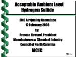 Acceptable Ambient Level Hydrogen Sulfide