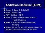 Addiction Medicine (ADM)