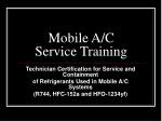 Mobile A/C Service Training