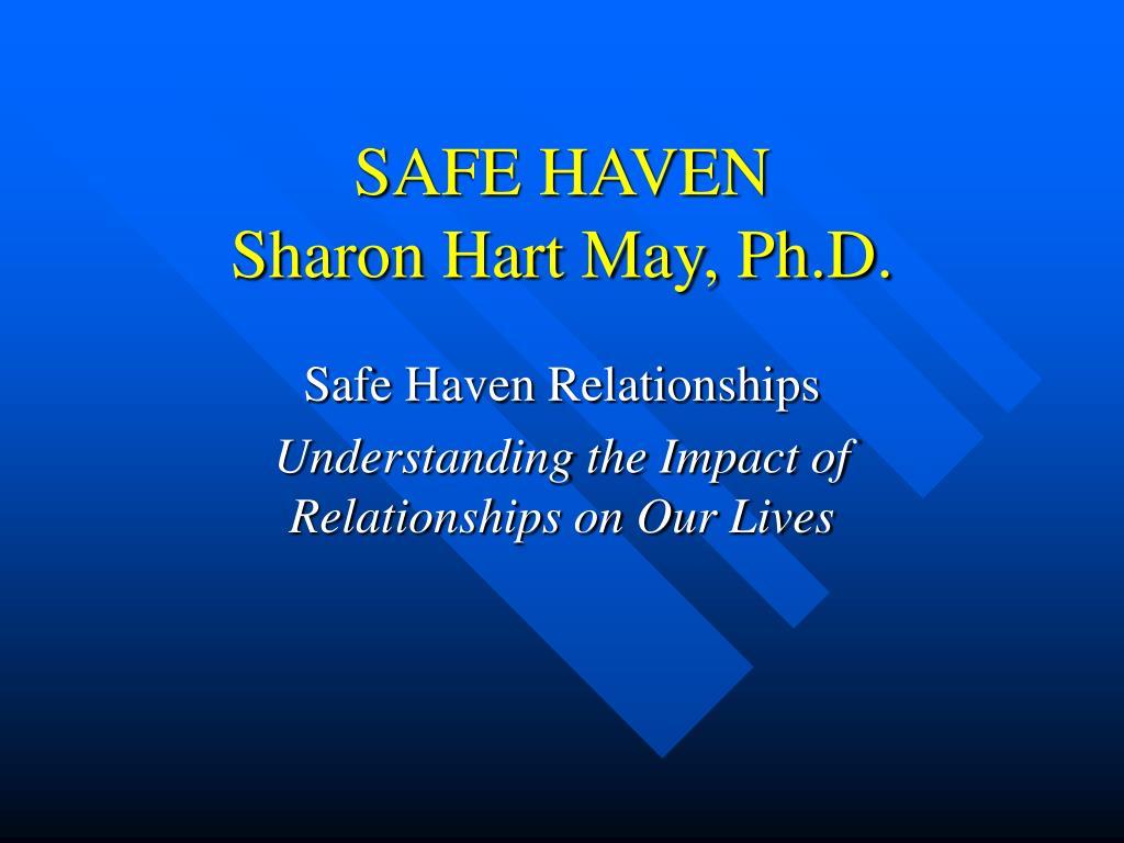safe haven sharon hart may ph d l.