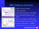 HEC Software Activities