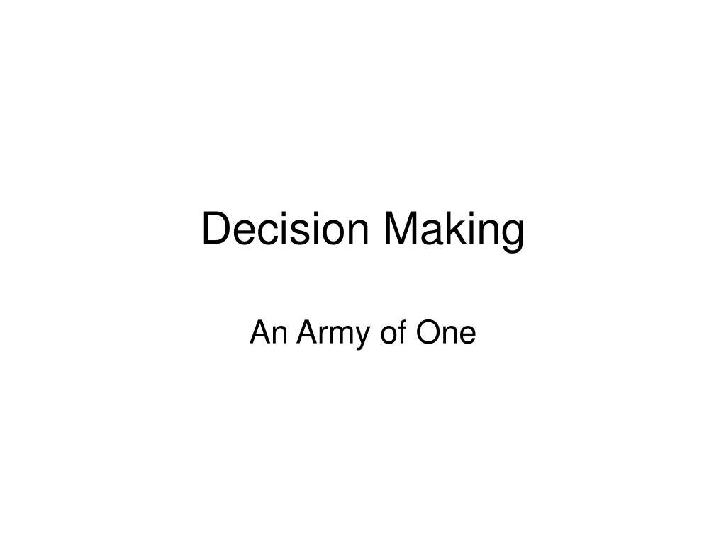 decision making l.