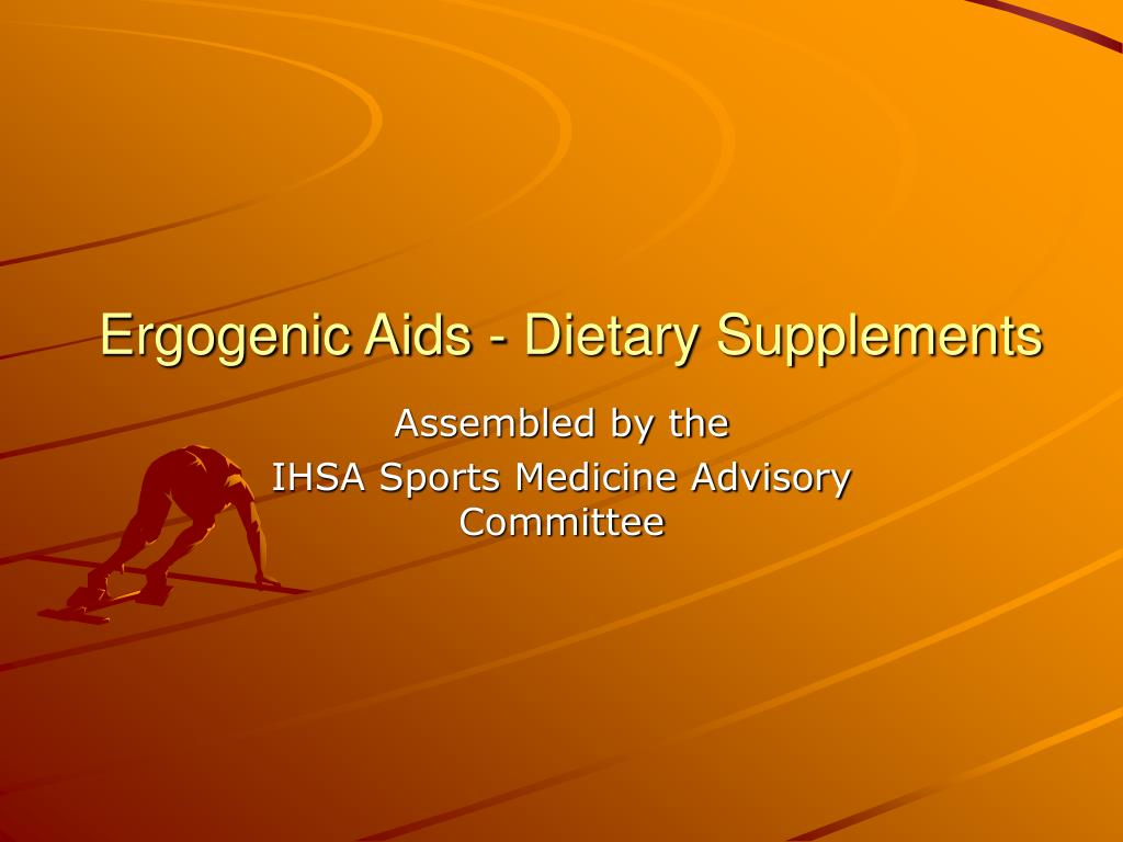 ergogenic aids dietary supplements l.