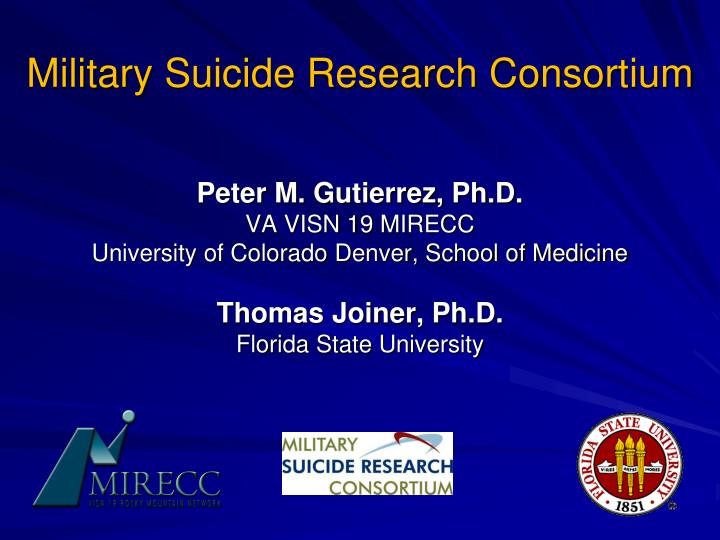 military suicide research consortium n.