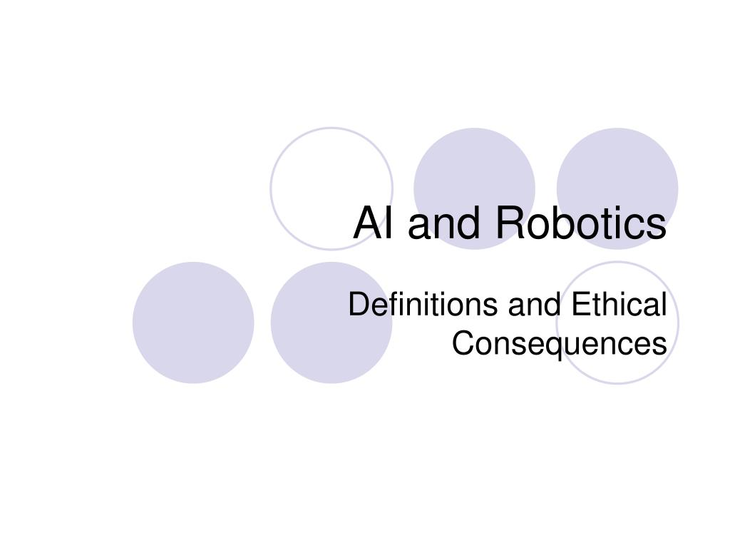 ai and robotics l.