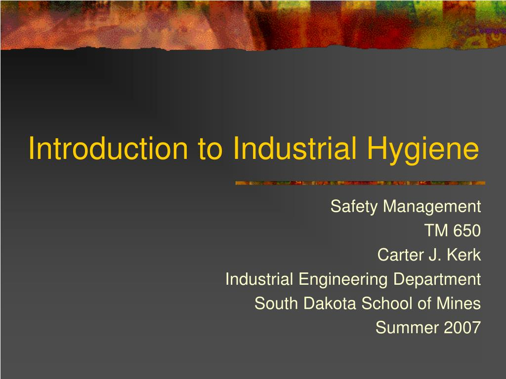 introduction to industrial hygiene l.