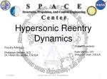 Hypersonic Reentry Dynamics