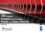 10 Shopper  Insights  that You Must Know and Dos  &  Don'ts