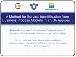 A Method for Service Identification from Business Process Models in a SOA Approach