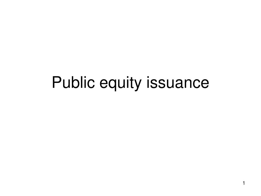 public equity issuance l.