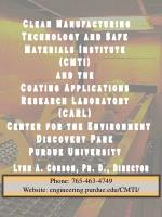 Clean Manufacturing Technology and Safe Materials Institute (CMTI) and the Coating Applications Research Laboratory (CAR