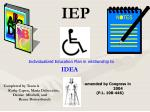 Individualized Education Plan in relationship to
