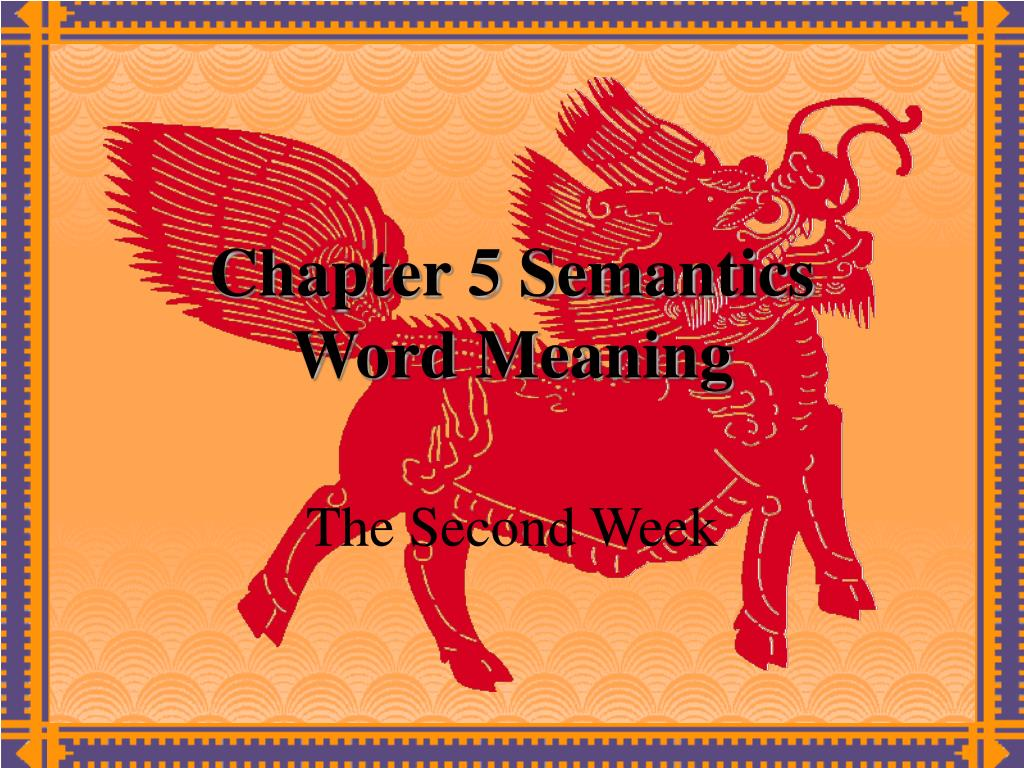 chapter 5 semantics word meaning l.