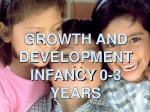 GROWTH AND DEVELOPMENT INFANCY 0-3 YEARS