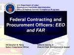 Federal Contracting and Procurement Officers:  EEO and FAR