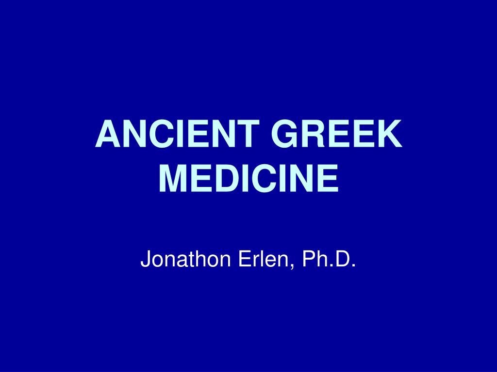 ancient greek medicine l.