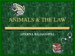 ANIMALS & THE LAW